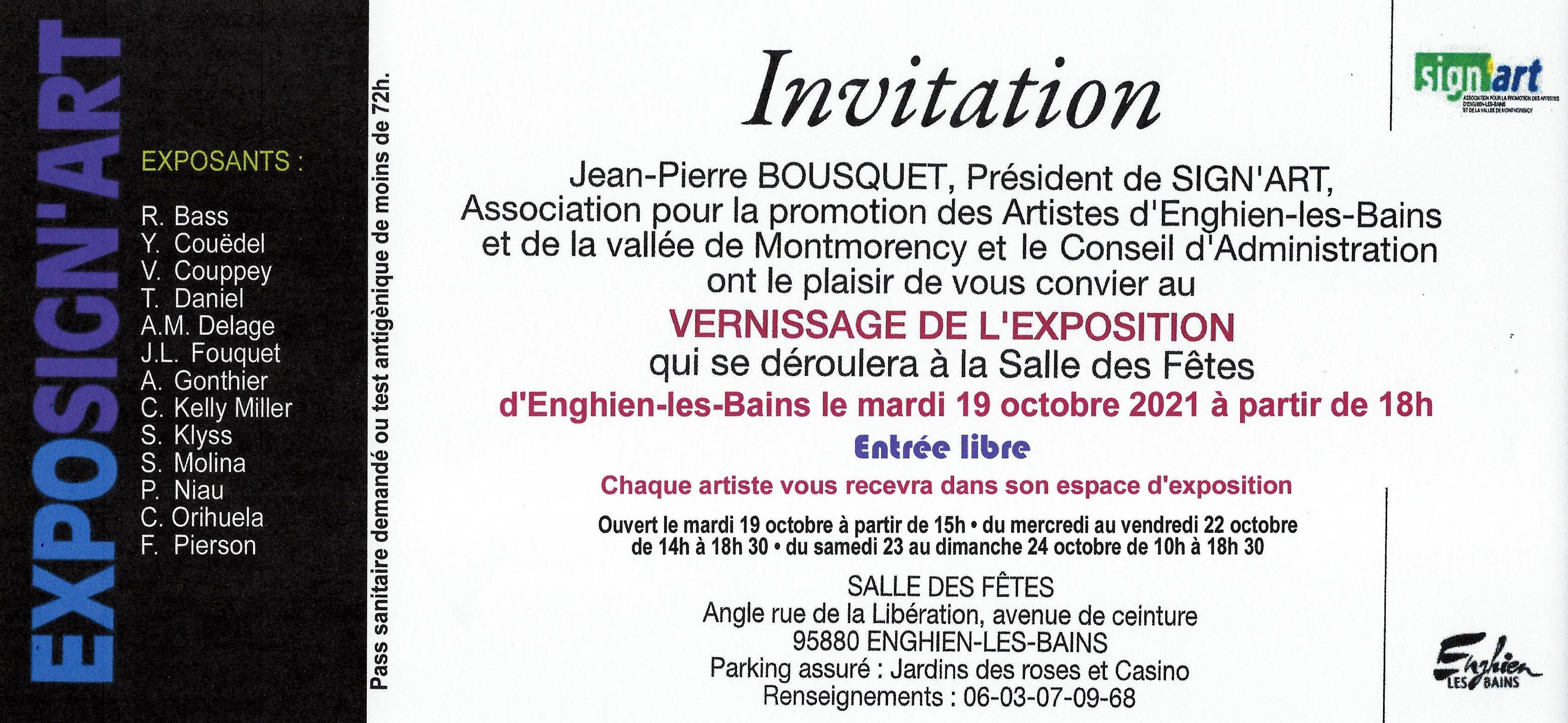 INVITATION SIGNART 2021